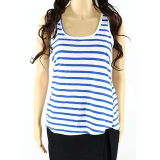 Sundry NEW Royal Blue Womens Size Small S Striped Stretch Tank Top
