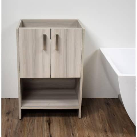 Volpa USA Cabo 30-inch Freestanding Bathroom Cabinet in Ash Grey