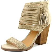 Not Rated Rosella Women  Open Toe Canvas Nude Sandals