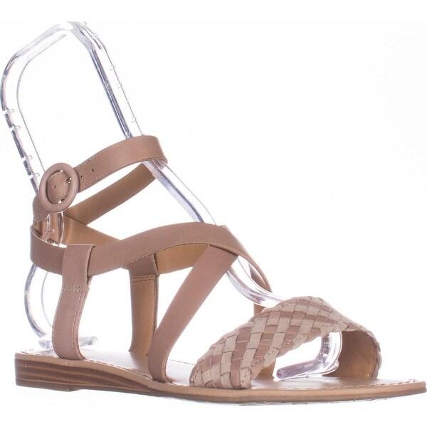 Franco Sarto Georgetta Flat Ankle-Strap Sandals, Stucco