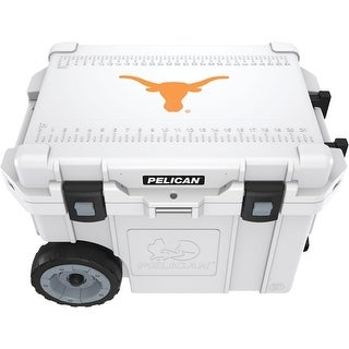 Pelican(tm) cc-19328-45qwt 45-quart university of texas longhorns(r) elite wheeled cooler