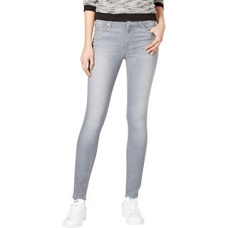 7 For All Mankind Womens Gwenevere Skinny Jeans Tencel Gray Wash - 31