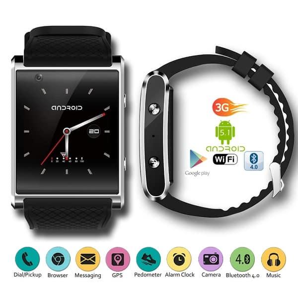 Shop Indigi 2018 Android 5 1 3g Unlocked Smartwatch Phone Wifi Gps Maps Pedometer Google Play Store Bluetooth Headset Overstock 14086344