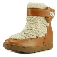 Coach Womens Monroe Leather Round Toe Mid-Calf Cold Weather Boots