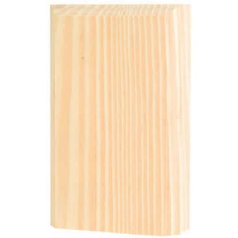"Waddell BTB-35-OAK Oak Base Trim Block Corner Moulding, 6"" x 3.75"" x 1"""