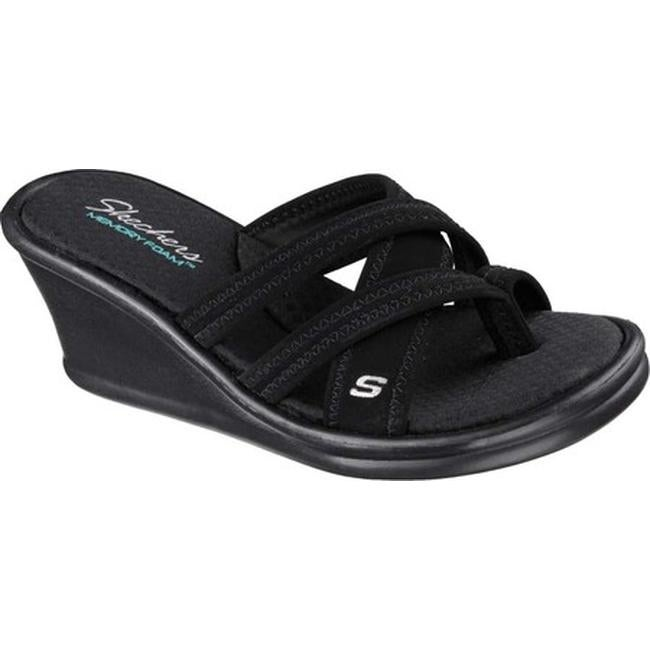 Shop Skechers Women's Rumblers Young At Heart Sandal Black