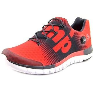Reebok ZPump Fusion Round Toe Canvas Running Shoe