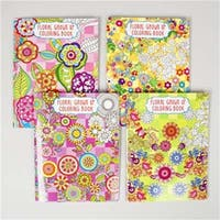 Bazic 6008 Coloring Book Adult Floral - Pack of 48