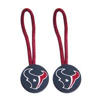 Houston Texans NFL Zipper Pull Pet id Luggage Bag Tag - 2 Pack