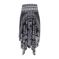 INC International Concepts Women's Printed Convertible Skirt - damask tile