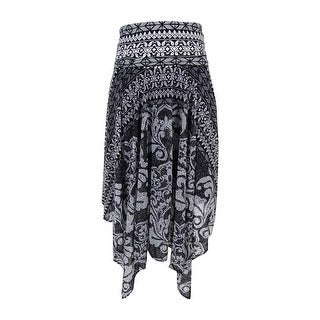 INC International Concepts Women's Printed Convertible Skirt - damask tile