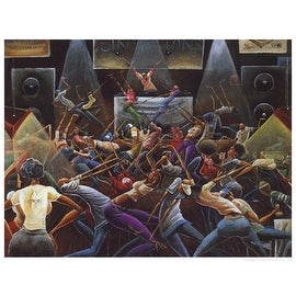 ''Jump Off'' by Frank Morrison African American Art Print (27.25 x 36 in.)
