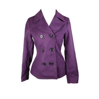 Celebrity Pink Purple Double-Breasted Peacoat S