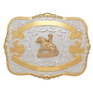 Crumrine Western Belt Buckle Boys Kids Reiner Gold White 384