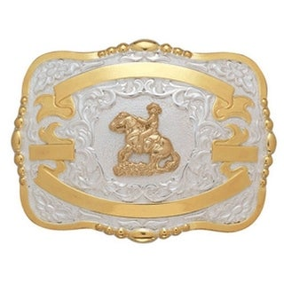 Crumrine Western Belt Buckle Boys Kids Reiner Gold White