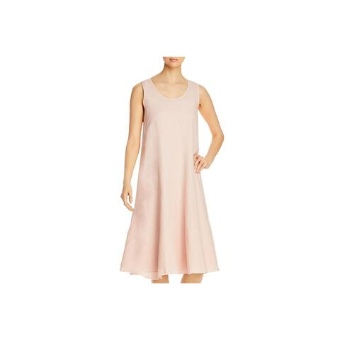 Eileen Fisher Womens Midi Dress Two-Piece Slub
