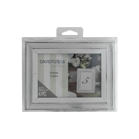 "Darice Frames 3.5x5"" Whitewash 4pc"