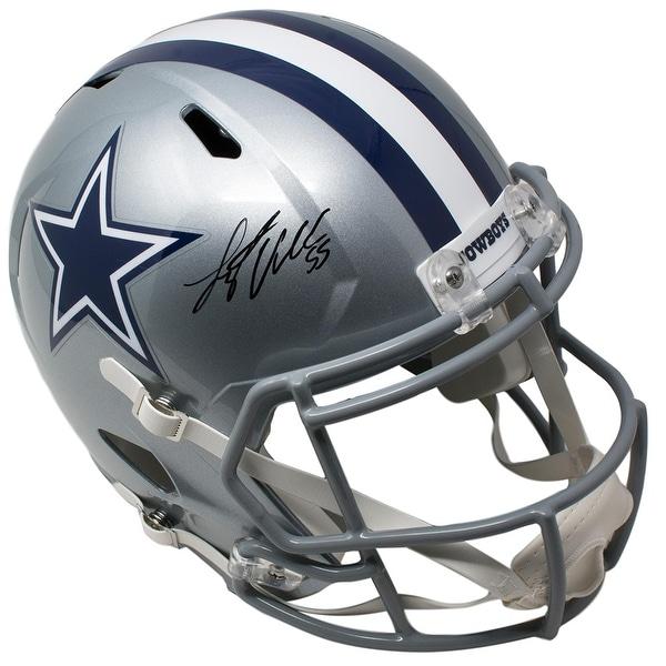 34139a9ac Leighton Vander Esch Signed Dallas Cowboys Full Size Speed Replica Helmet  JSA