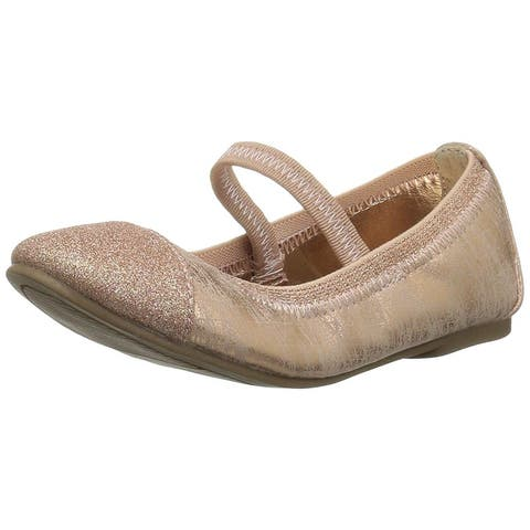 The Children's Place Girl's Ballet Flat Rose Gold 03