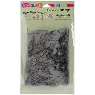 """Stampendous House Mouse Cling Stamp 7.75""""X4.5""""-Rainfall Shelter"""