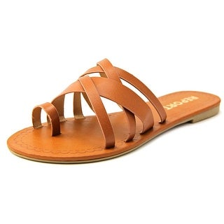 Report Gyselle Women Open Toe Synthetic Brown Slides Sandal