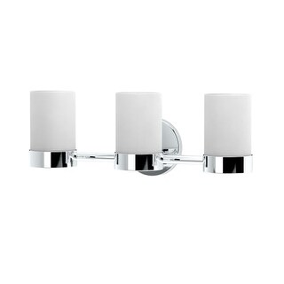 """Gatco 163-TRIPLE Glam 19-1/2"""" Wide 3 Light Vanity Light with Shade"""