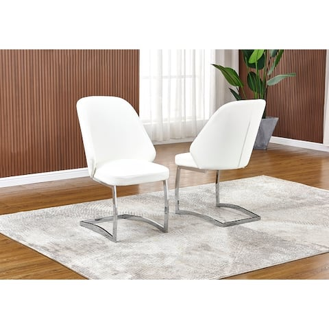 Best Quality Furniture Faux Leather Dining Chair (Set of 2)