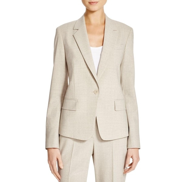 Theory Womens Gabe N One-Button Blazer Virgin Wool Notch Collar