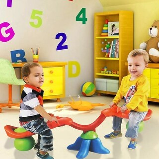 Costway Kids Seesaw 360 Degree Spinning Teeter Totter Bouncer Activity Sporting Play