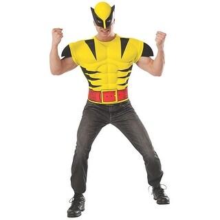 X-Men Wolverine Costume Shirt & Mask Adult Standard - Yellow