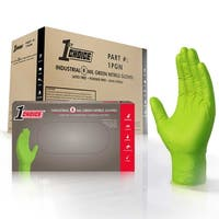 1st Choice Premium Green Nitrile Ind Latex Free Disposable Gloves