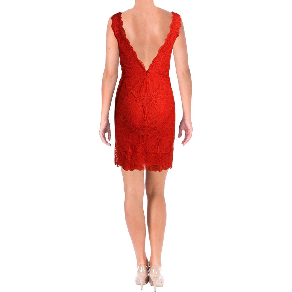 eb7586f7e557df Shop Nicole Miller Womens Cocktail Dress Lace Sleeveless - M - Free ...