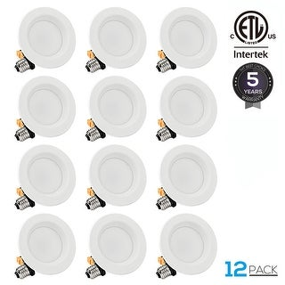 12-PACK 10W 4 inch Dimmable Recessed LED Downlight, 5000K