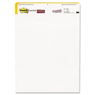 Easel Pads Super Sticky Self-Stick Easel Pads- 25 x 30- White- 2