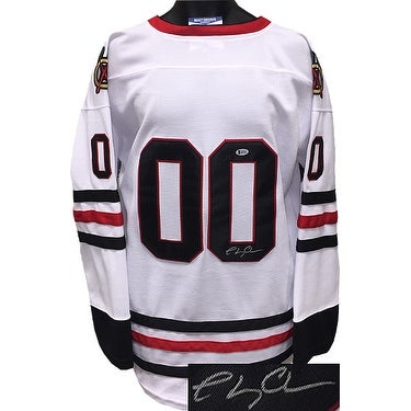9606f83d9 Chevy Chase signed Chicago Blackhawks White Christmas Vacation Custom  Stitched Hockey Jersey no nam