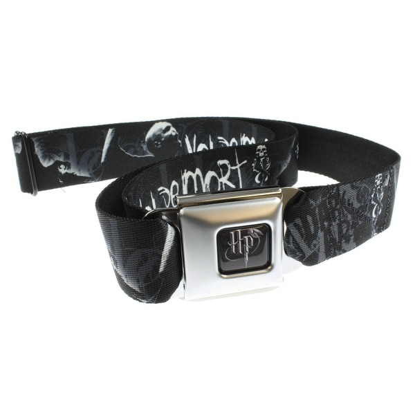 Harry Potter Seatbelt Belt - VOLDEMORT / DARK ARTS-Holds Pants Up