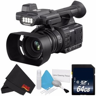 Panasonic AG-AC30 Full HD Camcorder with Touch Panel LCD Viewscreen AG-AC30PJ + 64GB SDXC Class 10 Memory Card Bundle