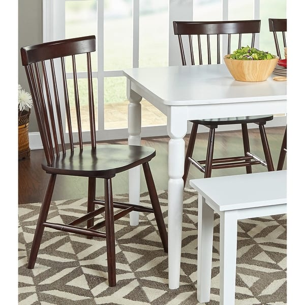 Simple Living Venice Farmhouse Dining Chairs Set Of 2 On Sale Overstock 8757307