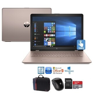 """HP 15 Core i3-7100 2TB HDD 15.6"""" HD Touch Screen Laptop Bundle with Office 365"""
