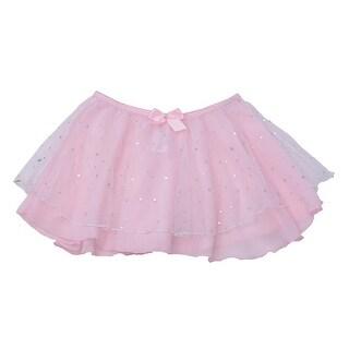Danshuz Toddler Little Girls Pink Skirt Hologram Dot Dancewear 2T-7