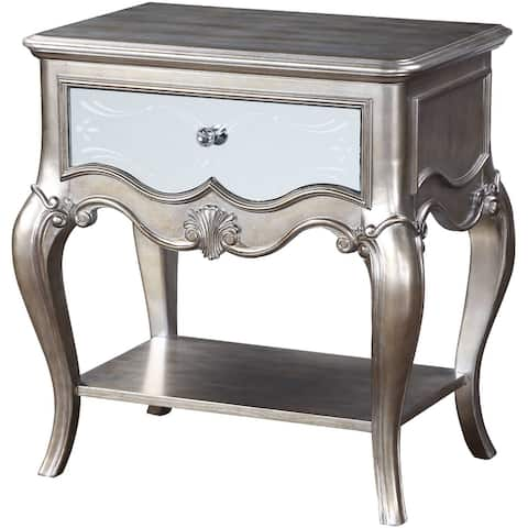 ACME Esteban Nightstand in Antique Champagne