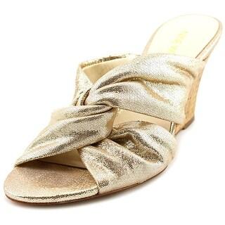 Nine West Kessie Open Toe Leather Wedge Heel