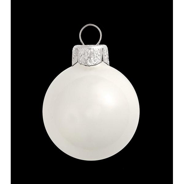 "12ct Shiny White Glass Ball Christmas Ornaments 2.75"" (70mm)"