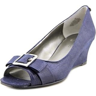 Bandolino Golda Women Open Toe Canvas Wedge Heel