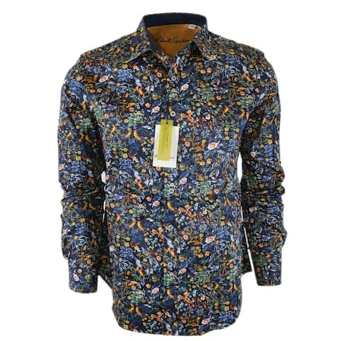 Robert Graham GIN BLOSSOM Cotton Floral Print Classic Fit Sports Shirt