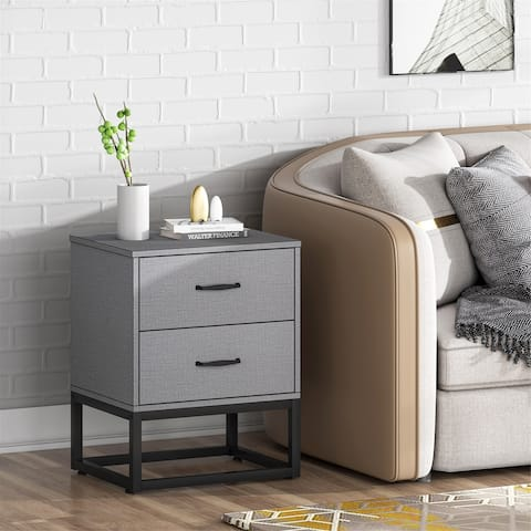 2 Drawer Nightstands End Table Bedside Table Sofa Table