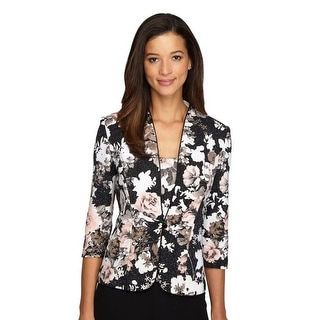 Floral Print Top & Jacket Set