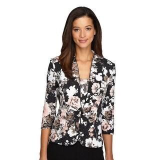 Floral Print Top & Jacket Set