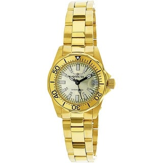 Invicta Women's Signature INV-7065 Gold Stainless-Steel Diving Watch