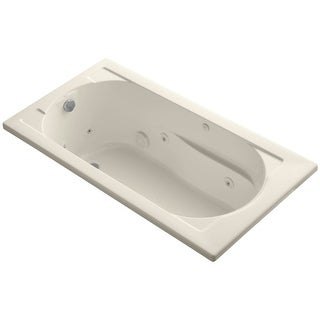 "Kohler K-1357 Devonshire Collection 60"" Drop In Jetted Whirlpool Bath Tub with Reversible Drain"
